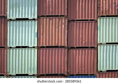 Stacked cargo containers in Logistic Zone