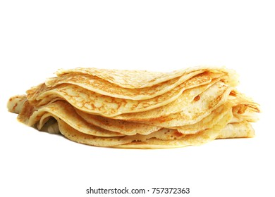 Stacked crepes isolated