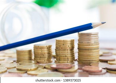 stacked currencies, savings and financial accounting