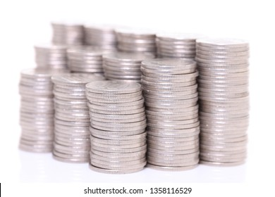 stacked Japanese 100 yen coins