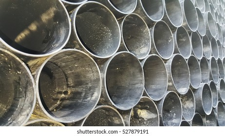 Stacked PVC ducts or pipes for utility company