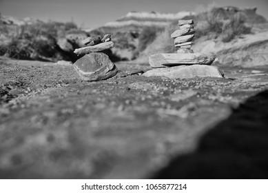 Stacked Rocks in Park