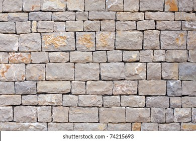 Stacked stones in a wall