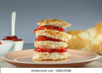 Stacked Strawberry bun with sugar