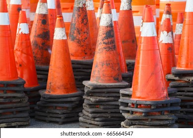 Stacked traffic/safety cones