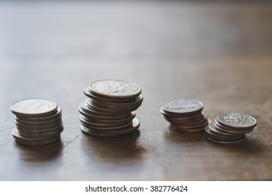 Stacked US Coins