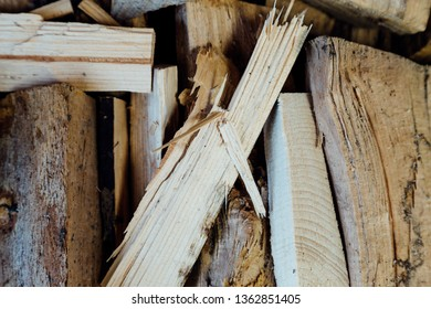 Stacked Wood For The Fireplace