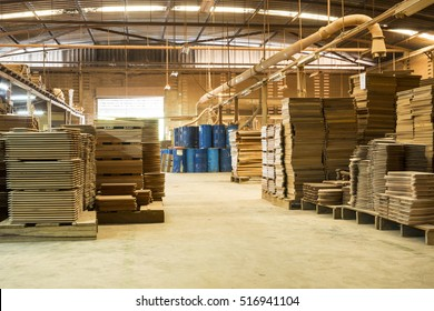 Stacked wood pine timber production for processing and furniture production at woodworking enterprise,door industrial factory.