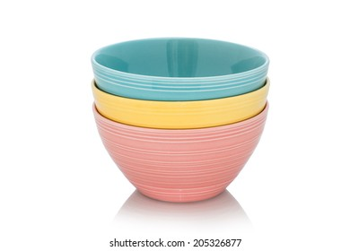 stacking bowl on the white background