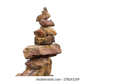 stacking of stone in the isolation on white