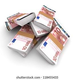 Stacks of 10 Euros