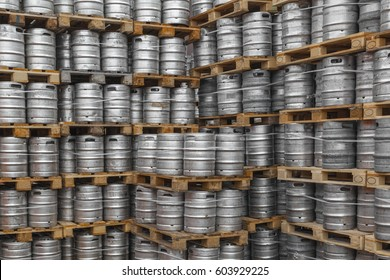 Stacks of barrels
