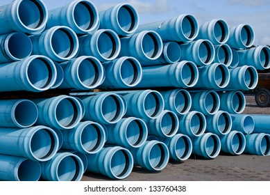 Stacks of C900 DR18 PVC water Pipe