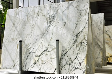 stacks of marble slabs - marble industry factory, work marble in italy, luxury interior material