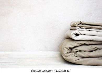 Stacks Monochrome Gradient White Gray Pastel Textiles Clothing Background Copy Space