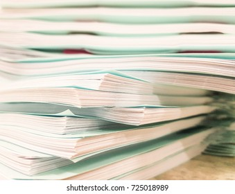 Stacks of Paper document,office and finance concept background,design for advertising,illustration and banner.