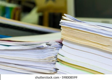Stacks of paper in my office.