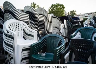 Fantastic Stack Plastic Chairs Stock Photos Images Photography Creativecarmelina Interior Chair Design Creativecarmelinacom