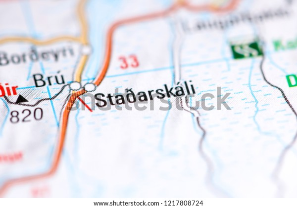 Stadarskali Iceland On Map Stock Photo (Edit Now) 1217808724 on iceland mountains map, iceland map by christiane engel, iceland scandinavia europe, iceland map black and white, iceland physical map, iceland on globe, iceland flag, iceland map with map key, iceland travel, iceland country map, iceland road map, iceland map with volcanoes, iceland global map, world map, iceland topographic map,