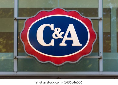 Stade, Germany - August 22, 2019: Signage at storefront identifying a C&A store