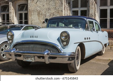 Stade, Germany -  July 9, 2017: A vintage Buick Century at Summer Drive US car meeting. Buick is an upscale automobile brand of the American manufacturer General Motors