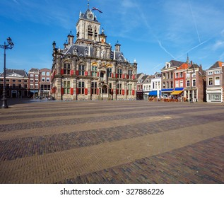 Stadhuis (City Hall) (1618) on Markt square, Delft, Netherlands