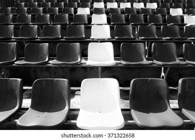 Stadium Chair black and white