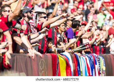 Stadium Crowd at the MLS Atlanta United Hosted Orlando City on Saturday 29th, 2017 at the Georgia Tech campus Bobby Dodd Stadium in Atlanta, Georgia - USA