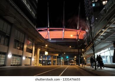 Stadium during night