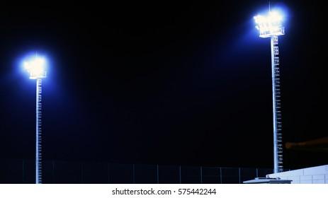 Stadium Light in Al Rayyan Stadium in Doha, Qatar