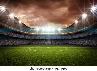 stadium light and night