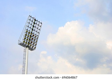 Stadium light on sky background