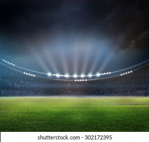stadium in lights