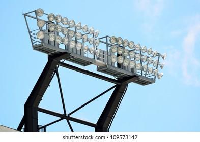 stadium lights at a college football field georgia usa