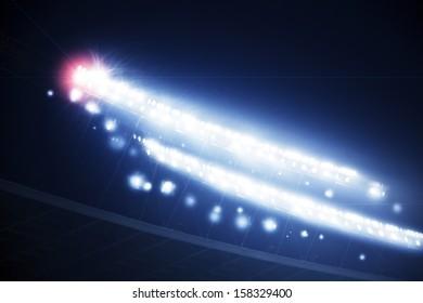Stadium lights with flare