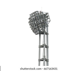 Stadium lights, isolated on white background