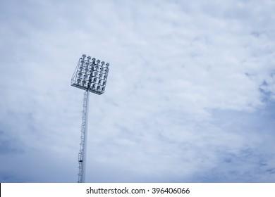 Stadium lights on sky