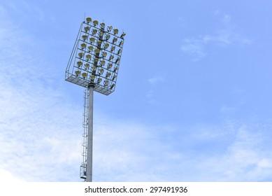 Stadium lights turn off at day time, Football stadium lights