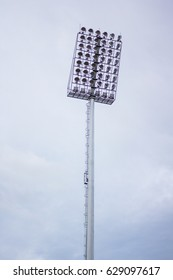 Stadium lights,on white sky background