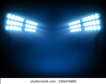 Stadium Overhead light background