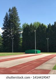 The stadium and running court