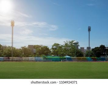 stadium school blue sky