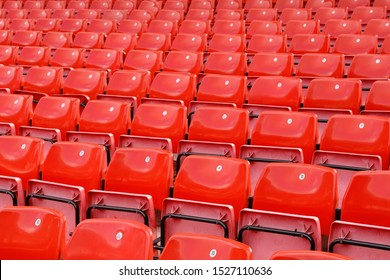 Stadium Seating, Rows of Empty Seats, United Kingdom