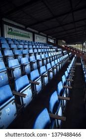 Stadium stands. London, England. April 4, 2019