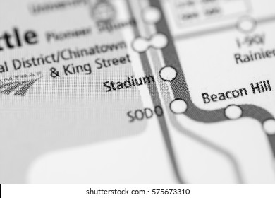 Stadium Station. Seattle Metro map.