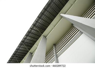 Stadium structure vintage style