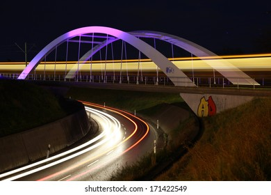Stadtbahnbrueke, Ostfildern, Stuttgart, Germany, famous City Road Bridge in Stuttgart - Shutterstock ID 171422549