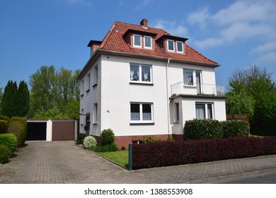 Stadthagen, Germany - May 1, 2019: House from the 30s