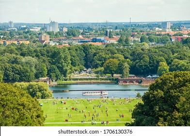 The Stadtparksee in the Hamburg Stadtpark