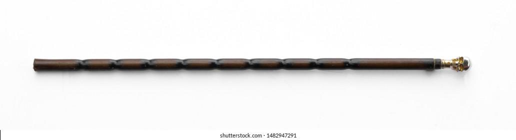 staff, magic wand, walking stick isolated on white background